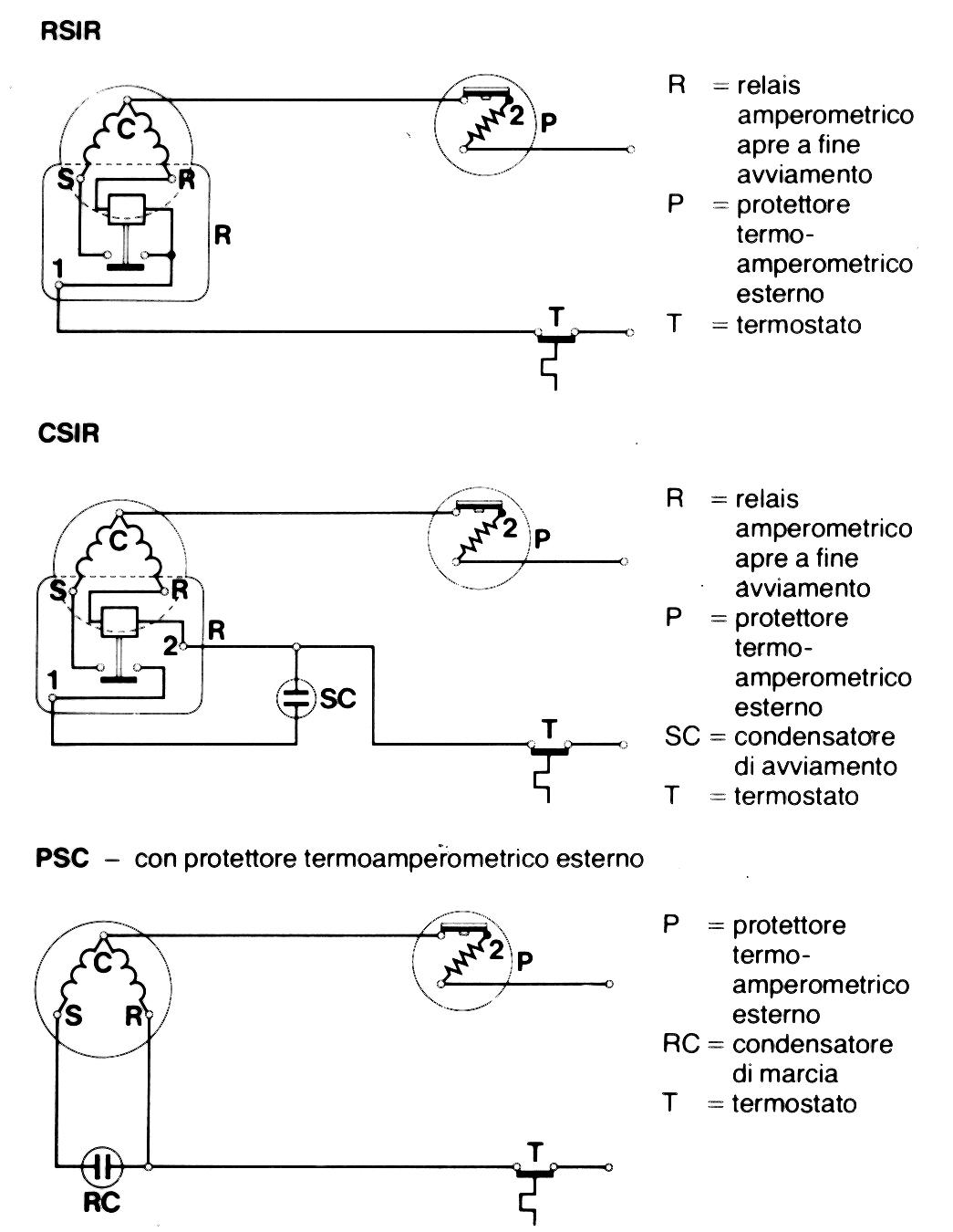 Schema Elettrico Termostato Frigo : Schema collegamento motore elettrico fare di una mosca